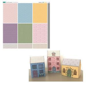 Victoria Carrington's Folksy Town Tea Light Kit: Pattern & Fabric Panel
