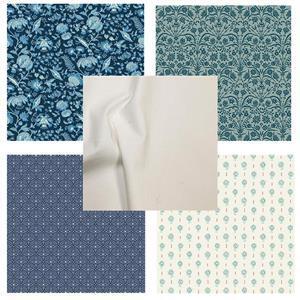 Liberty Blue Floral FQ Pack (5pcs)