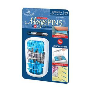 Taylor Seville Magic Quilting Pins Pack of 100 in Storage Case.