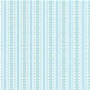 Basically Hugs Turquoise Scallop Stripe Fabric 0.5m