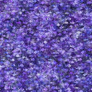 Dan Morris Aquatica Purple Fish Blender Fabric 0.5m