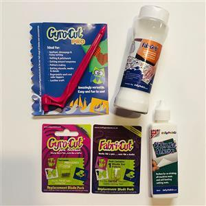 Crafty Products Gyro-Cut PRO Tool Mega Bundle: Cutting Tool, Blade & Adhesives. Save £5