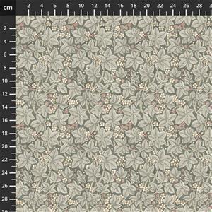 William Morris Granada in Brambles Grey Fabric 0.5m