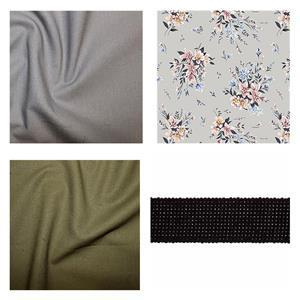 Liberty Grey Pleated Tote Bag Kit: Instructions, Fabric (1.5m) and Webbing