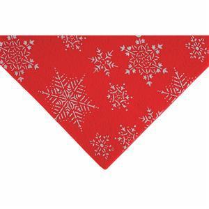 Red Glitter Snowflake Felt Sheet 23x30cm