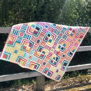 Love From Beth Cabin Crosses Quilt Kit: Instructions, FQ's (6pcs) & Fat Eights (15pcs)