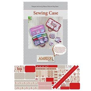 Amber Makes Redwork Sewing Case Kit : Instructions & Panel (140 x 55cm)