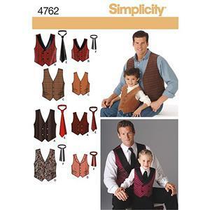 Simplicity Men's & Boy's Waistcoat Pattern S-XL