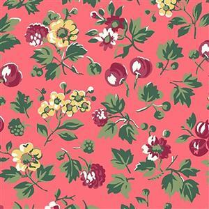 Liberty Orchard Garden Collection Pink Wild Cherry Fabric 0.5m