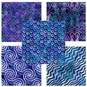 Dan Morris Adagio Blue FQ Bundle (5pcs)