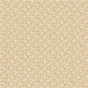 Riley Blake Delightful Rose Stem Gold Fabric 0.5m