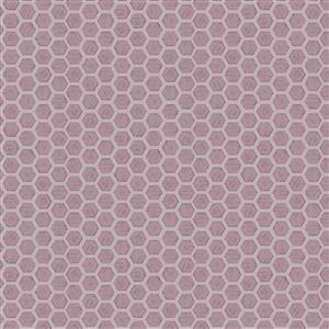 Lewis & Irene Queen Bee Honeycomb On Mauve Fabric 0.5m