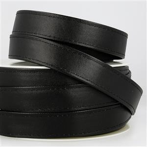 Faux Leather Webbing Black 25mm (1m)