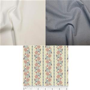 Ivory School House & Ivy Quilt Fabric Bundle (1.5m)