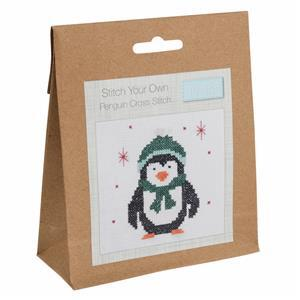 Penguin Mini Counted Cross Stitch Kit