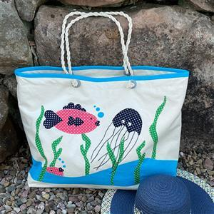 Allison Maryon's Under the Sea Beach Bag Kit: Instructions, Fabrics & Handles