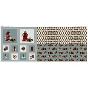 Debbie Shore's Grey Bobbins Fabric Panel (140cm x 63cm)