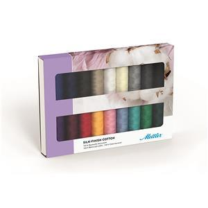 Mettler Silk Finish Cotton Thread Set Pack of 18 Assorted Colours