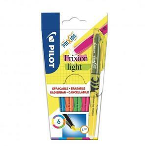FriXion Light Pack of 6 Pens - Violet, Blue, Orange, Green, Pink & Yellow