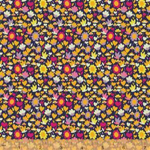 Solstice Buttercup on Multi Fabric 0.5m