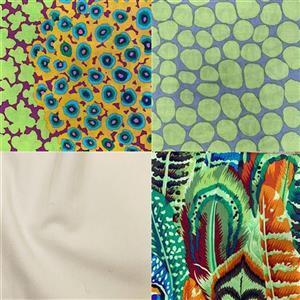 Kaffe Fassett Green Rick Rack Baby Quilt Fabric Bundle (3.5m)