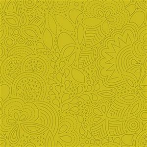 Alison Glass Sunprints Stitched Chartreuse 0.5m