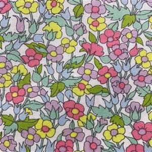 Liberty Carnaby Collection Piccailly Poppy Pastel Fabric 0.5m