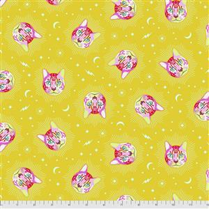 Tula Pink Curiouser And Curiouser in Cheshire Wonder Fabric 0.5m