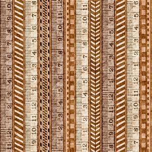 Dan Morris A Little Handy Tape Measure Workshop Cream Fabric 0.5m