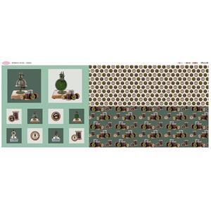 Debbie Shore's Green Bobbins Fabric Panel (140cm x 63cm)