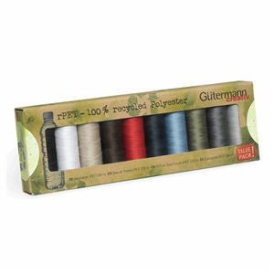 Sew All Recycled Thread Set 10 x 100m Assorted Colours