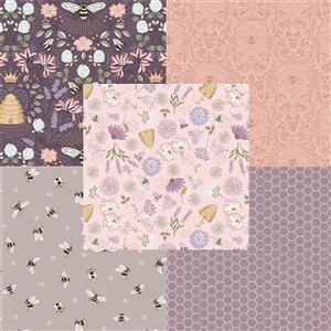 Lewis & Irene Queen Bee Blush Fabric Bundle (2.5m)