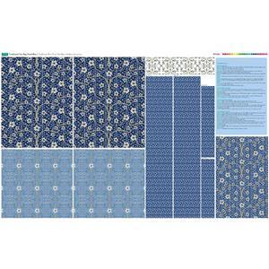 Blue Traditional Tote Bag Fabric Panel (140 x 96cm)