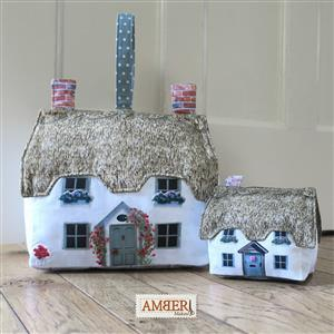 Amber Makes Thatched Cottage & Pin Cushion Kit: Instructions & Panel