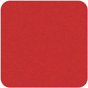 "Felt Square in Red 22.8x22.8cm (9x9"")"