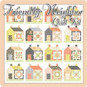 "Moda Apricot & Ash By Corey Yoder Friendly Neighbor Quilt Kit (82"" x 82"")"