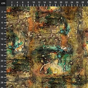 Tim Holtz Abandoned II in DropCloth Multi Fabric 0.5m
