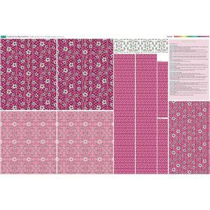 Pink Traditional Tote Bag Fabric Panel (140 x 96cm)