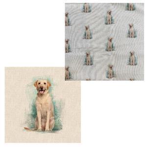 Labrador Cushion Bundle: Fabric Panel & Fabric (0.5m)