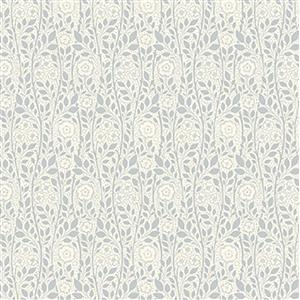 Liberty Emporium Collection Tudor Merton Rose Grey Fabric 0.5m