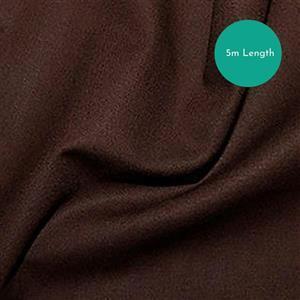 100% Cotton Fabric Chocolate Backing Bundle (5m). Save £1.50