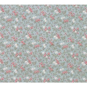 Moda Daybreak Nest Dewdrop on Blue Fabric 0.5m