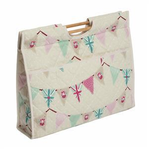 Craft Bag with Wooden Handles Bunting Design
