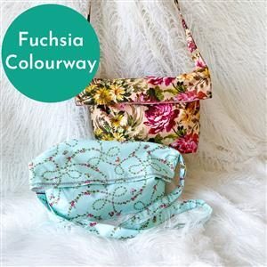 Fuchsia Helen Newton's Messenger Tote Bag Kit: Instructions, Fabric (1.5m) & D-Rings