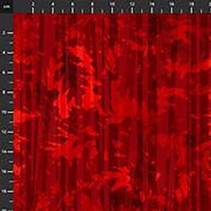 Harvest Whisper Red Leaf Shadow Fabric 0.5m
