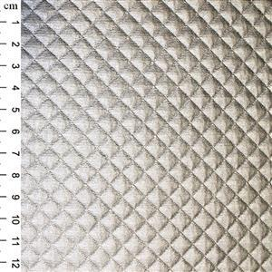 Silver PU Quilted Fabric 0.5m