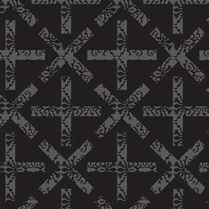 Alison Glass Art Theory Grey Cross on Black Fabric 0.5m