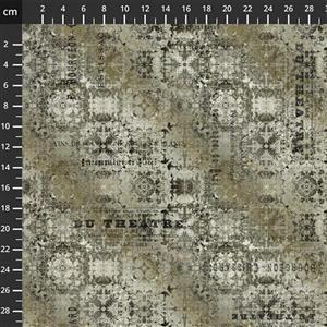 Tim Holtz Abandoned II in Du Theater Neutral Fabric 0.5m