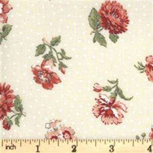 Moda Jardin De Fleurs in Cream Rose Fabric 0.5m