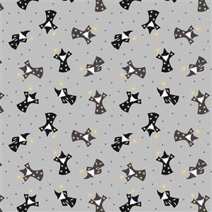 Lewis & Irene Small Things Mystical and Magical Wizards on Grey Fabric 0.5m